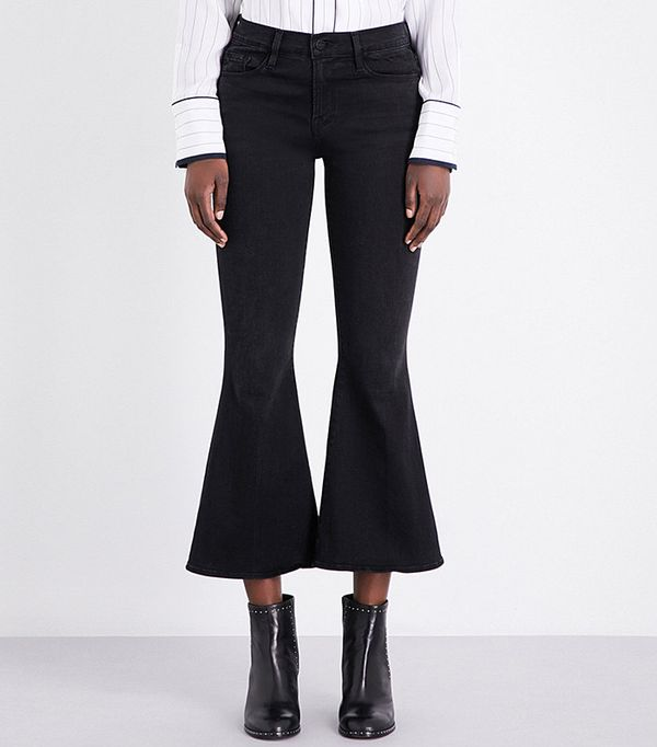 flared cropped high rise jeans - Frame le crop bell