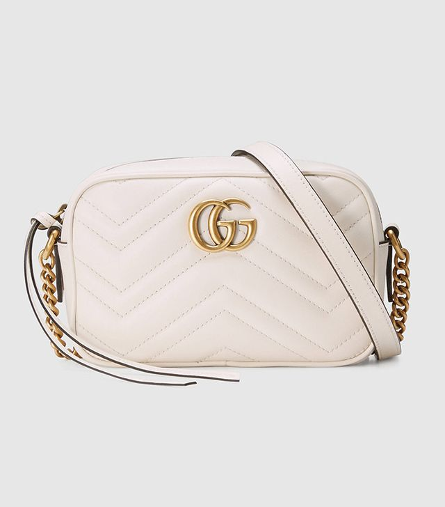 white leather mini bag