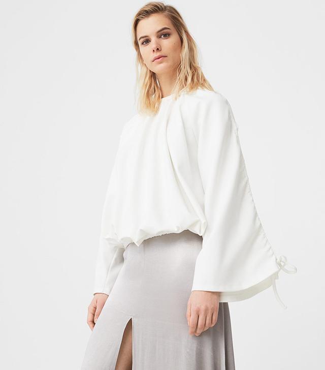 lace-up sweatshirt