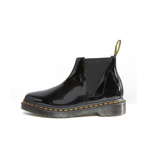 Bianca Black Patent Chelsea Boots