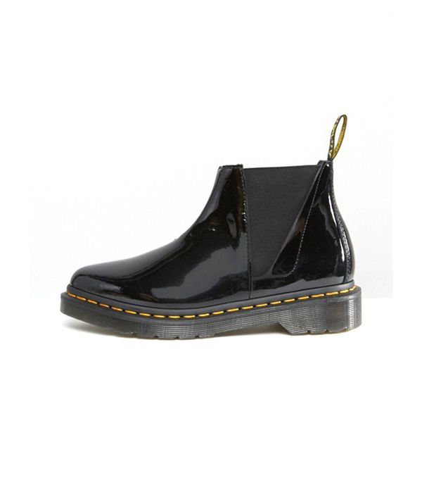 patent chelsea boots