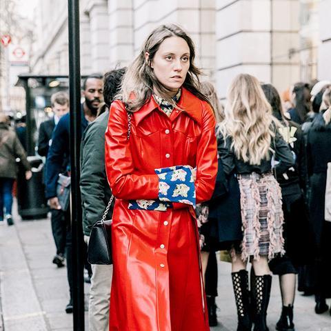 Vinyl Red Coat