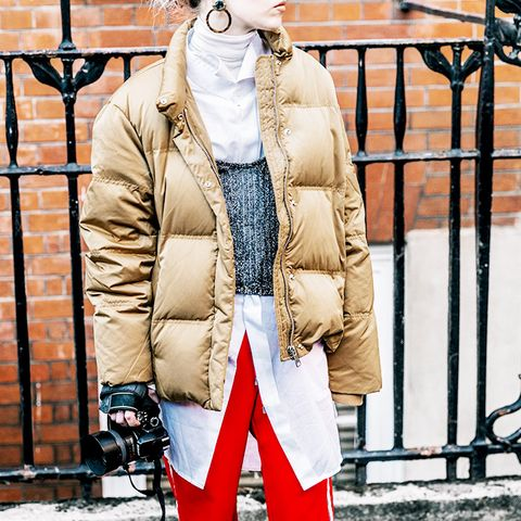 Red Track Pants With Sneakers