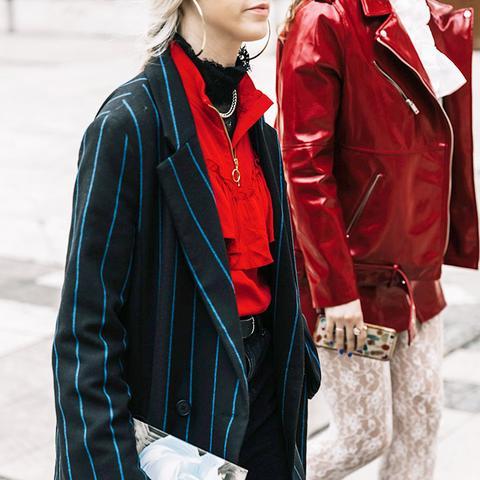 Alexander Wang Girls Tights With Pinstripe Blazer