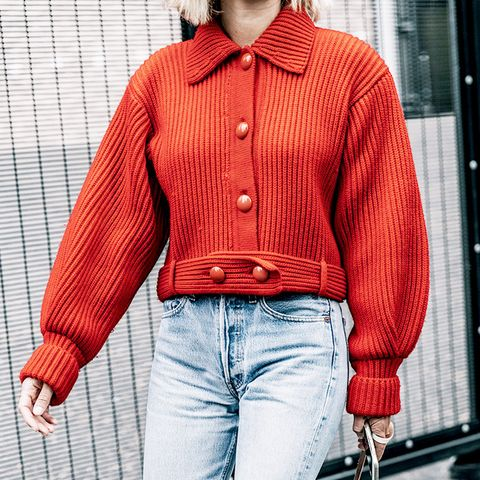Adenorah in Red Jacket and Jeans