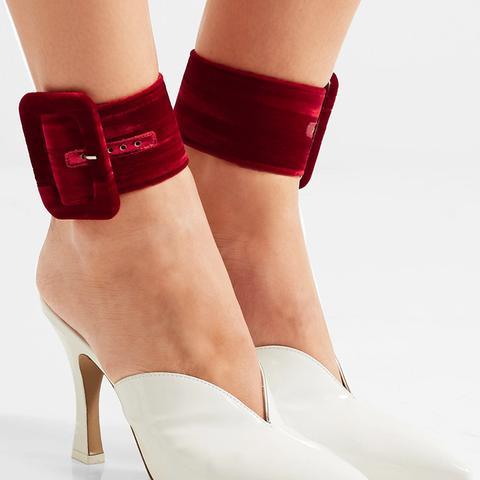 Velvet Ankle Straps
