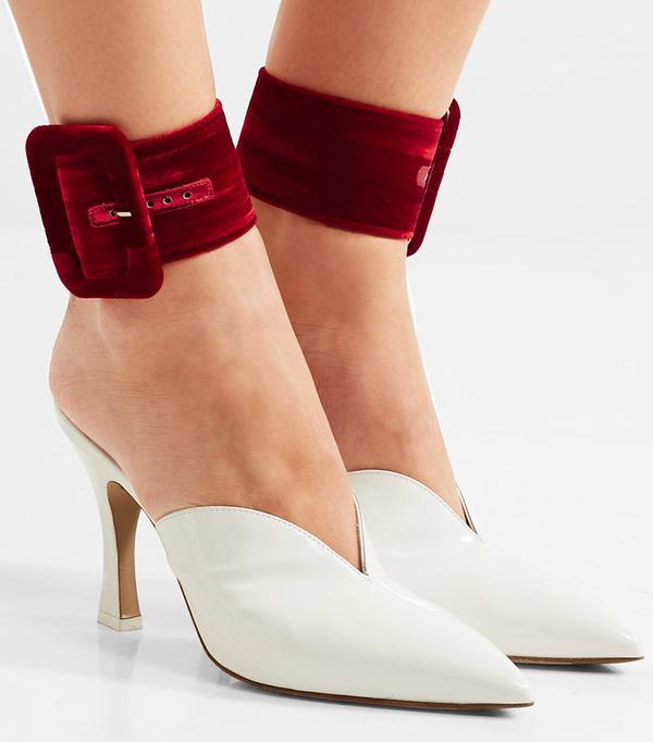 Attico Velvet Ankle Straps