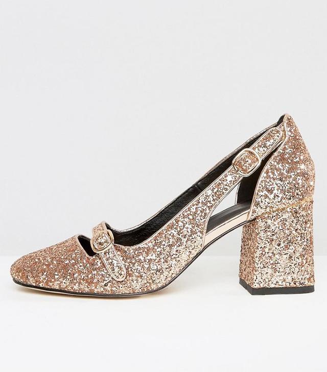best affordable gold heels