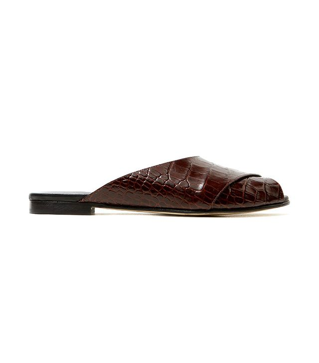 comfortable leather slides