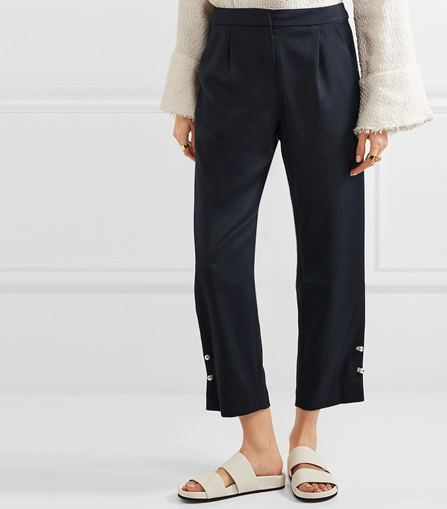 sleek tailored pants