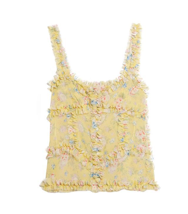 silk floral camisole