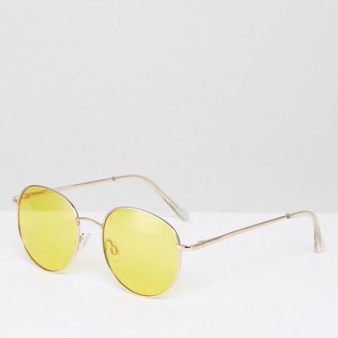 '90s Round Sunglasses Yellow