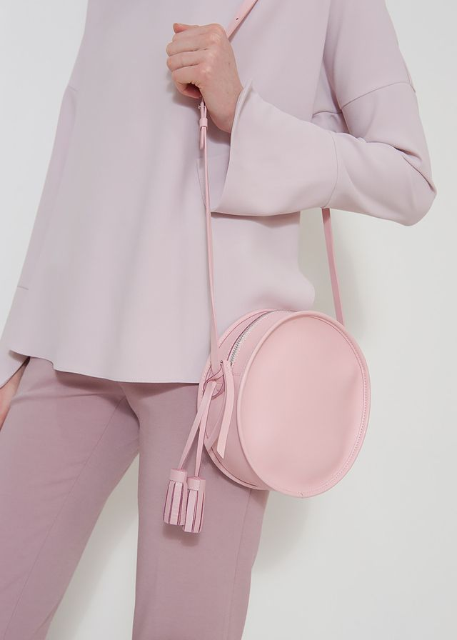 Frankie Shop Le Junev Pink Circle Bag