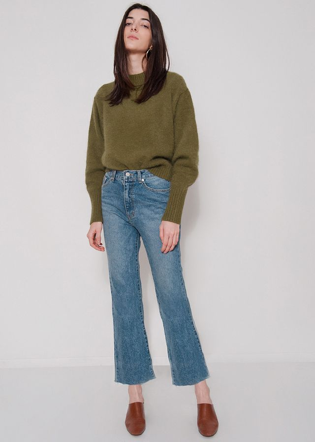 Frankie Shop Raw Edge Cropped Jeans
