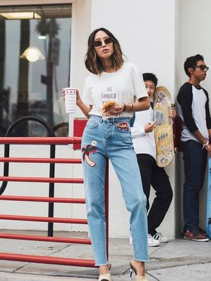 The Denim We Didn't Expect to See on Fashion Girls This Season