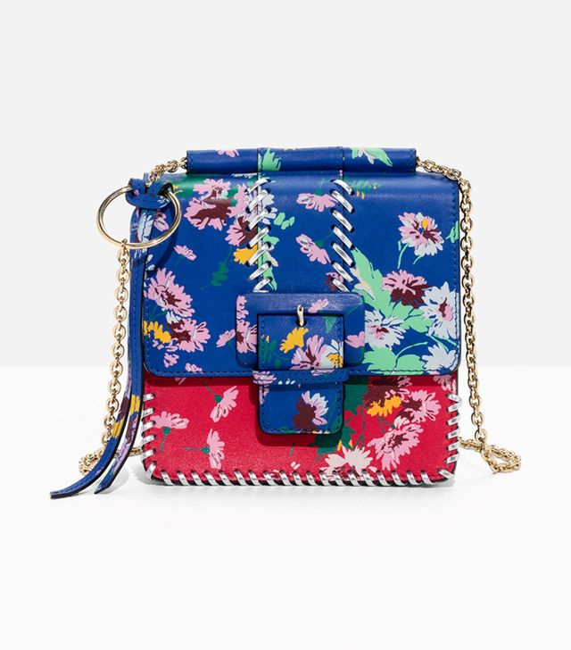 & Other Stories Floral Buckle Mini Bag