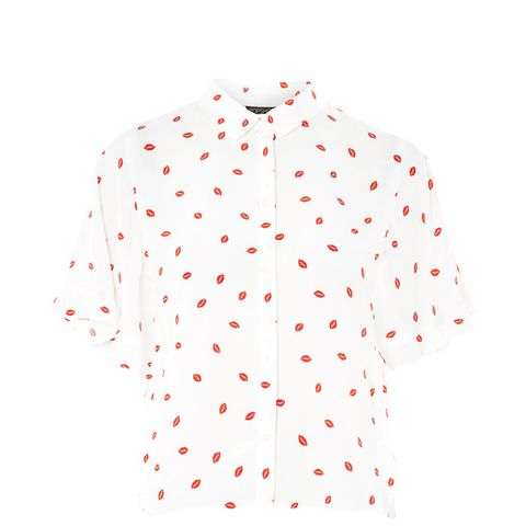 Lip Print Casual Shirt