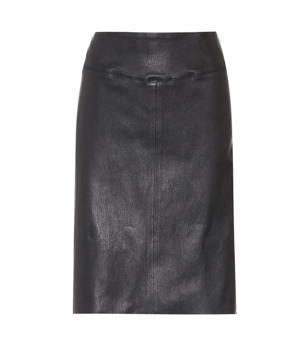 How to wear a leather skirt: Joseph leather pencil skirt