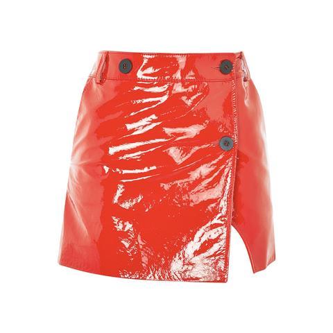 Heaton Patent Leather Mini Skirt