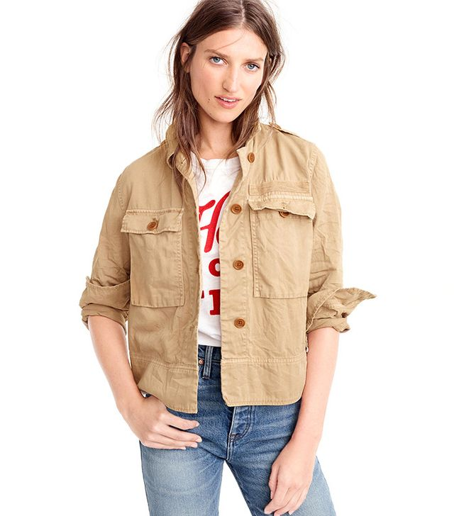 J.Crew Garment-Dyed Safari Shirt-Jacket