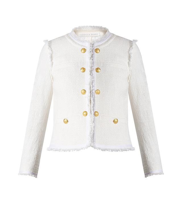 Veronica Beard Betsy Lace Back Tweed Jacket