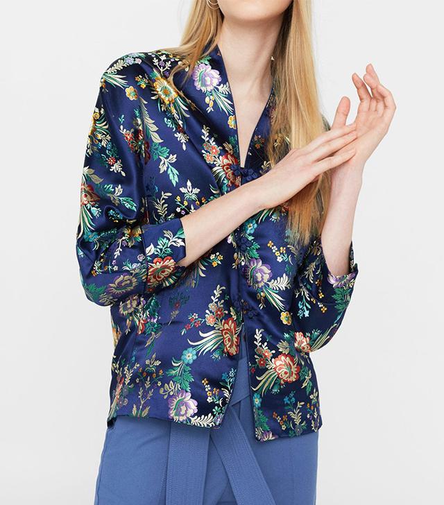 Mango Embroidered Kimono Jacket