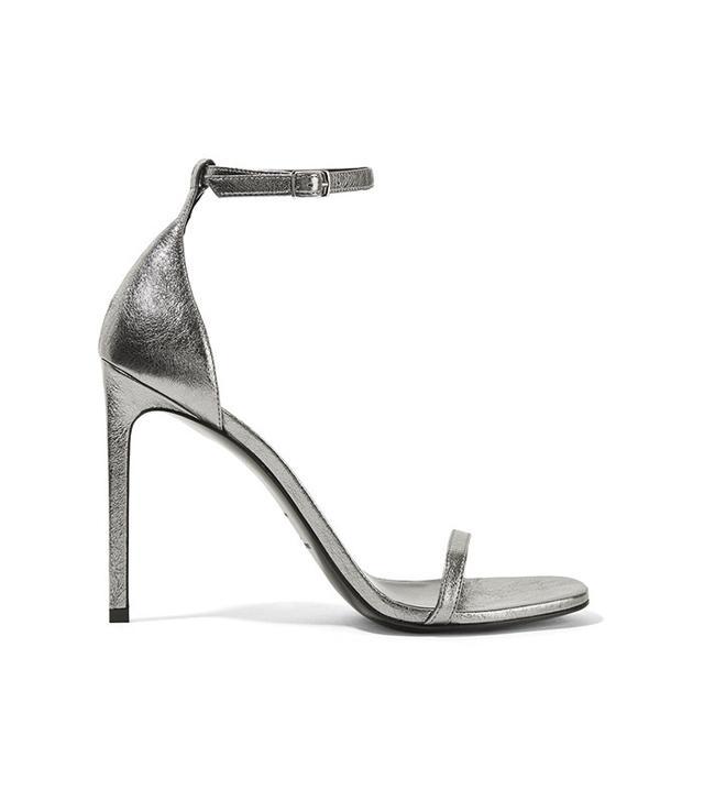 saint laurent metallic sandals