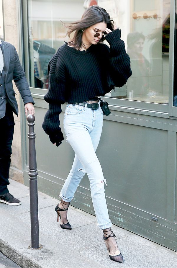 kendall-jenner-cropped-distressed-sweater