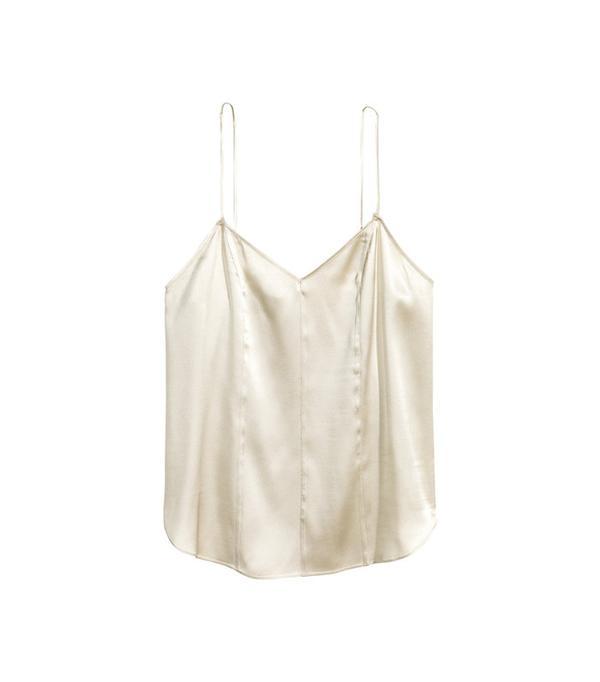 H&M Silk V-Neck Camisole