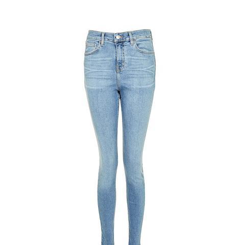 Moto Blue Raw Hem Jamie Jeans