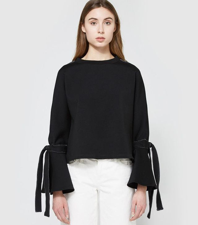 statement sweater with sleeves