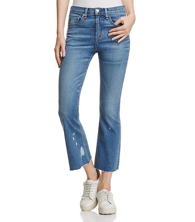 Rag & Bone Crop Flare Jeans in Maybrook