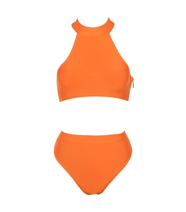 House of CB Maryska Orange Halter Bikini