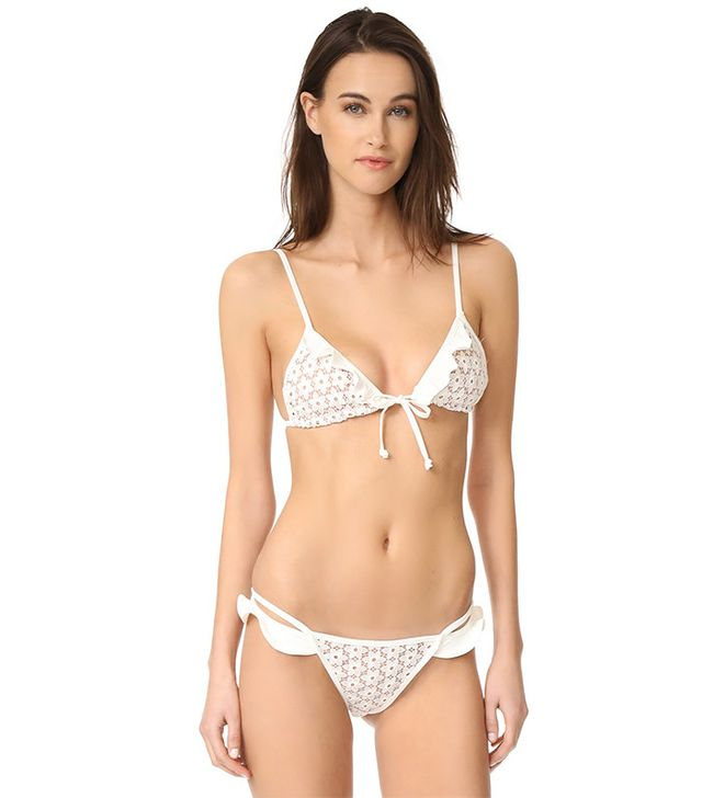 For Love & Lemons Alicante Lace Triangle Top