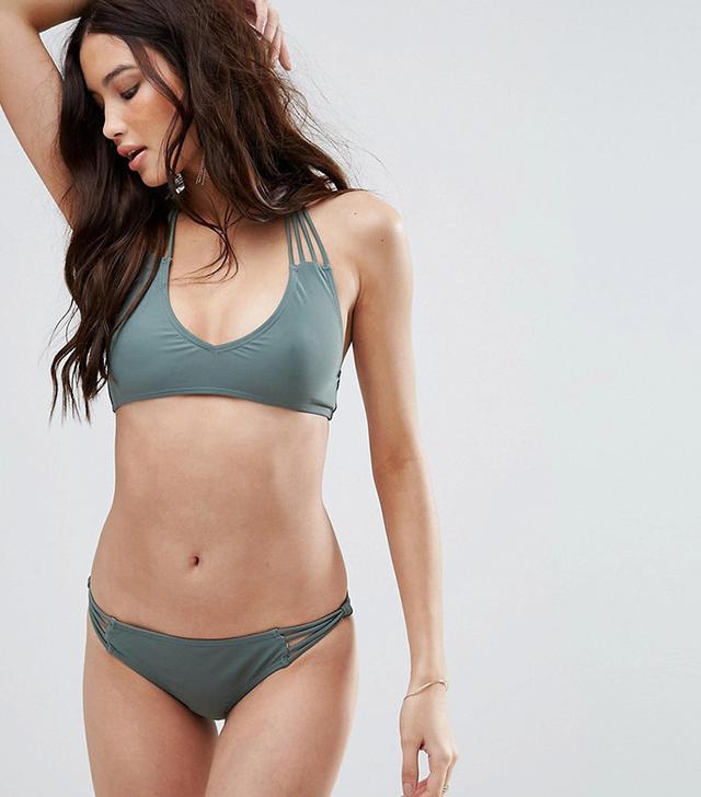 South Beach Khaki Strappy Bikini
