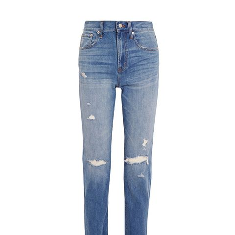 Perfect Vintage Distressted Straight-Leg Jeans