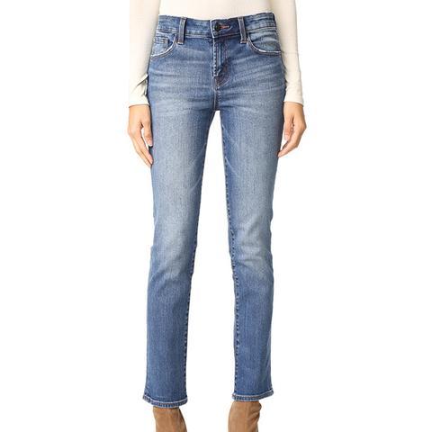 Amelia Mid Rise Straight Jeans
