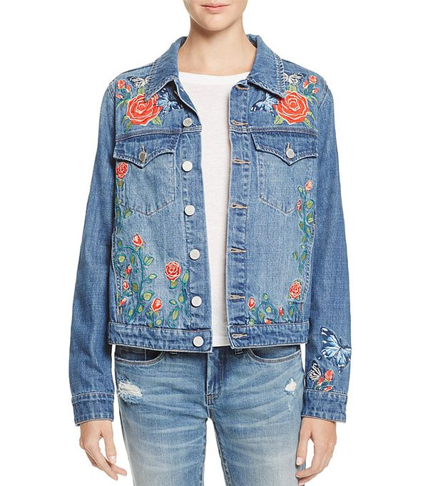 cute jean jackets - Blank NYC Embroidered Denim Jacket