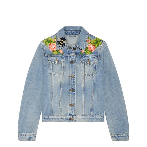 Appliquéd Denim Jacket