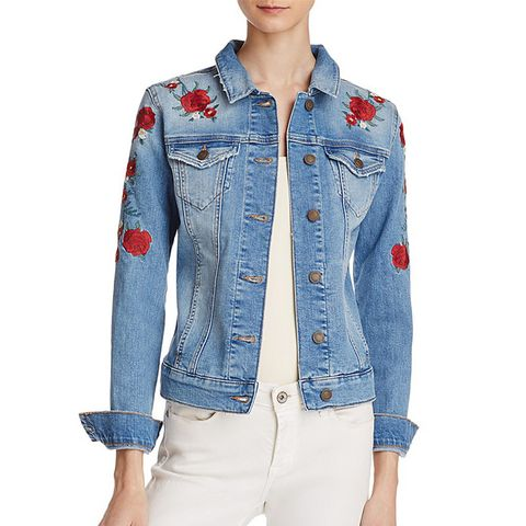 Samantha Embroidered Denim Jacket