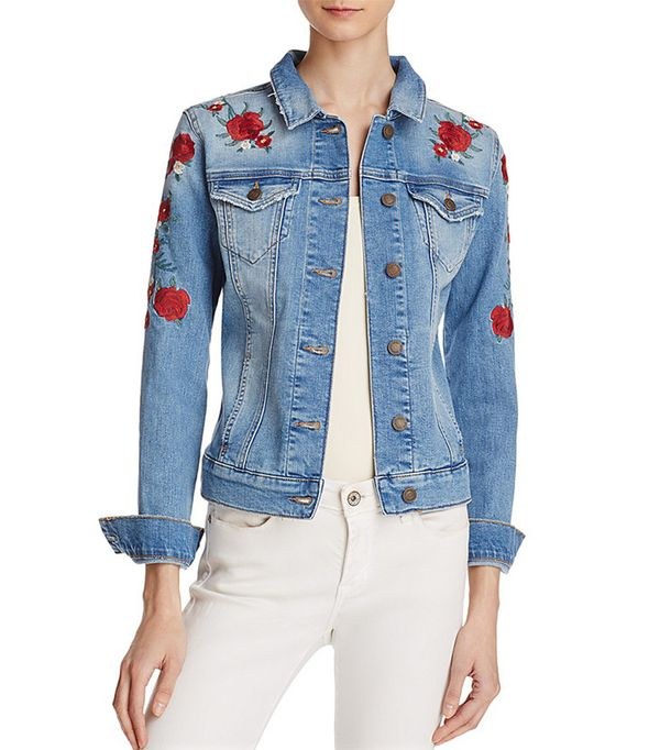 cute jean jackets - Mavi Samantha Embroidered Denim Jacket