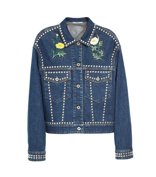 cute jean jackets for Coachella - Stella McCartney Embellished Denim Jacket
