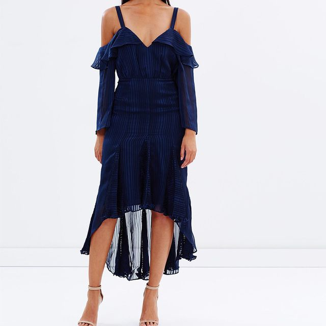 best black off the shoulder dress