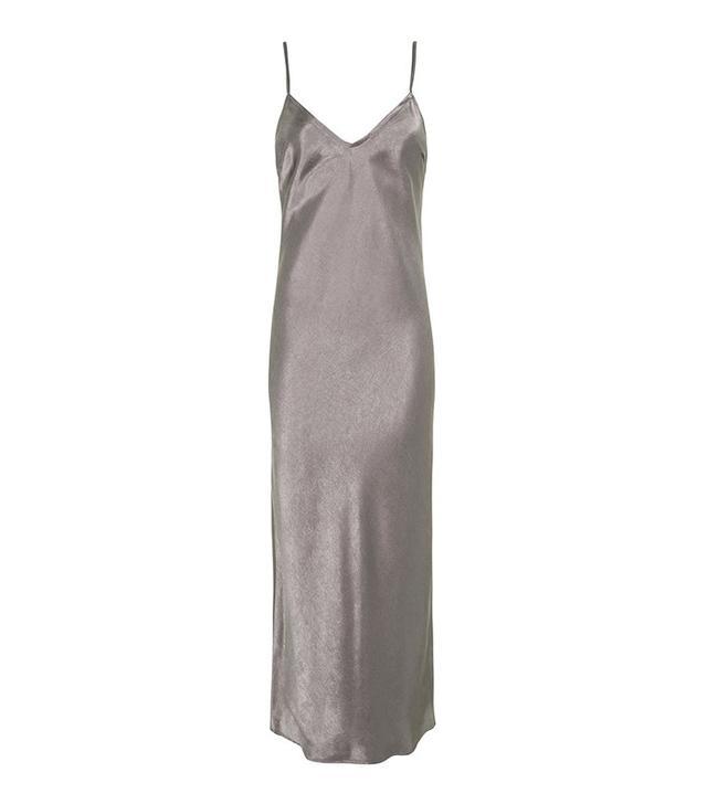 best silver slip dress