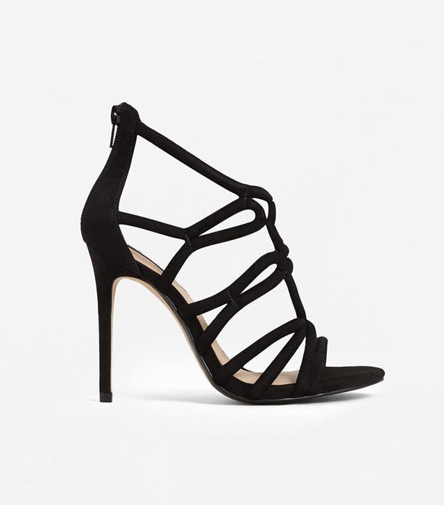 best black strappy heels