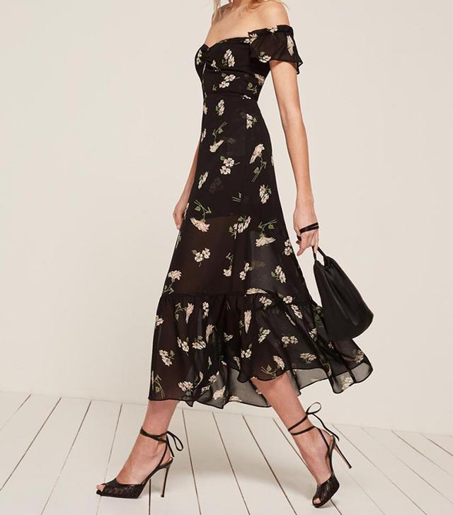 best floral off the shoulder dress