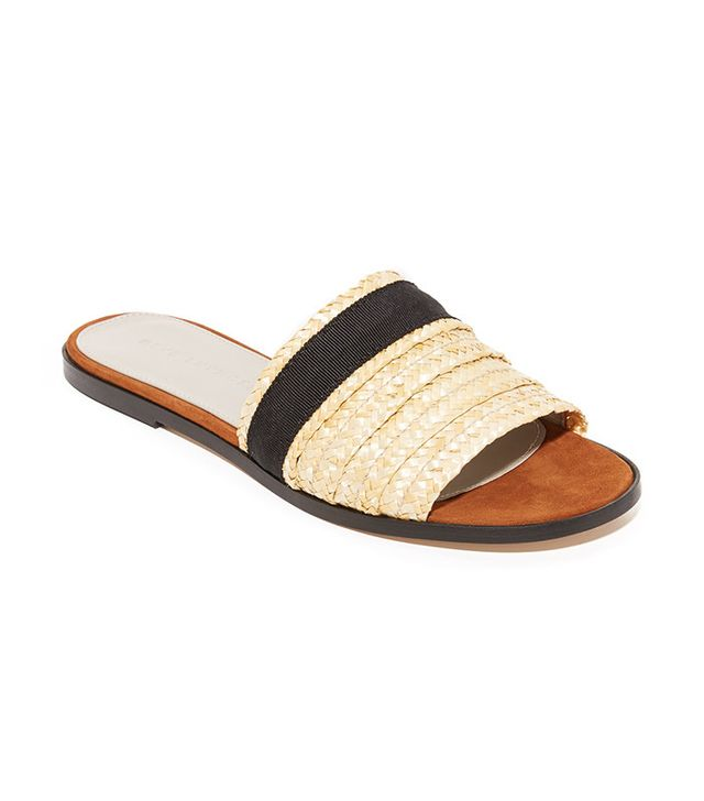 best slide straw sandals