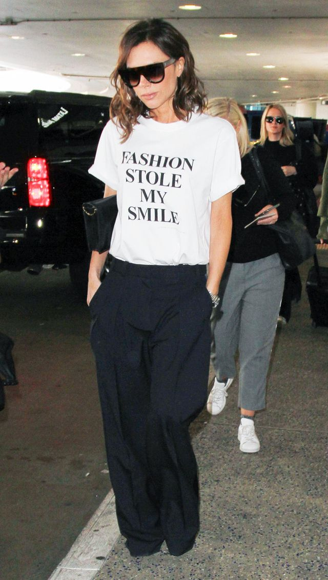 Victoria Beckham fashion stole my smile T-shirt
