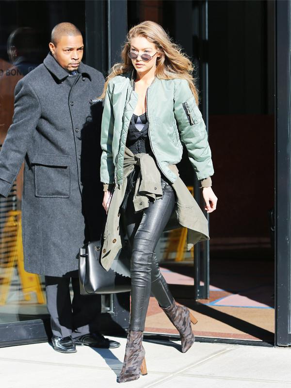 Gigi Hadid style: Public Desire camo boots