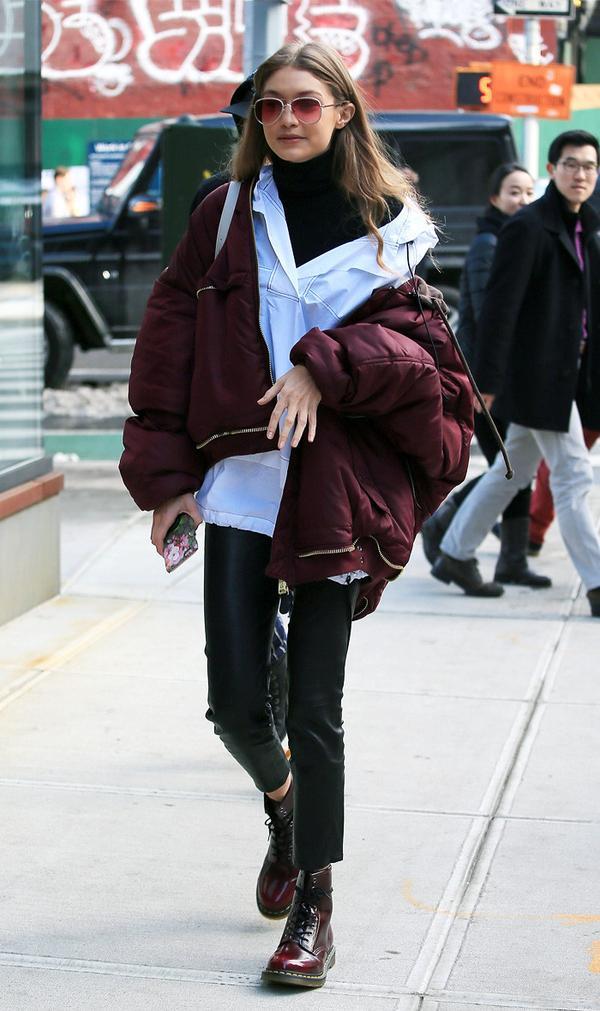 Gigi Hadid style: Dr Martens